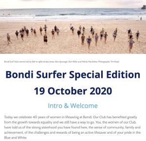 The latest Bondi Surfer Newsletter
